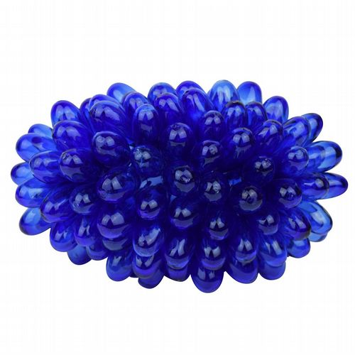 Recycled Glass Grape Lamp - Medium - Cobalt Blue